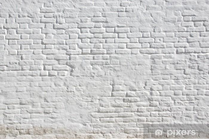 White plastered brick wall Vinyl Wall Mural - Themes