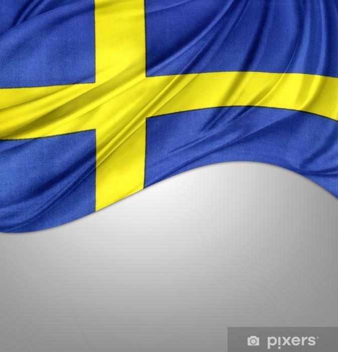 Fototapet Av Vinyl Svenska Flaggan