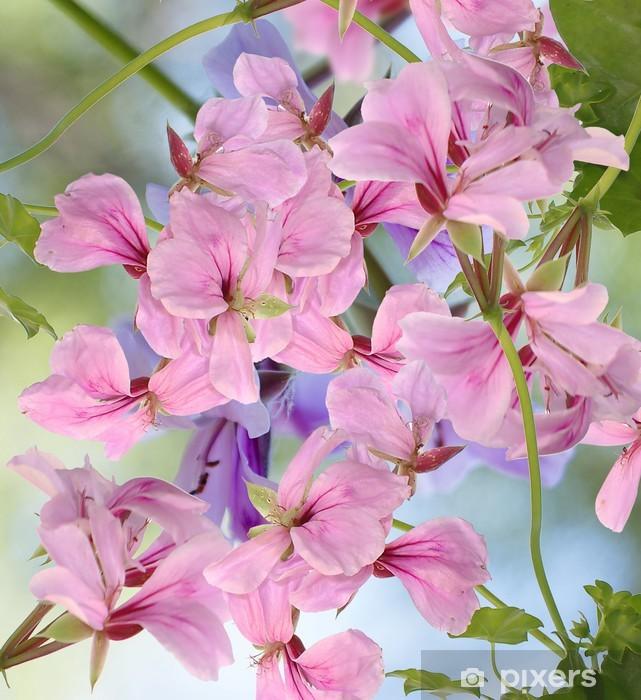 Sticker Pixerstick Décorations en fleur au fond - Fleurs