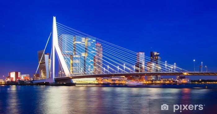 Vinyl Fotobehang Rotterdam Skyline, Nederland - Thema's