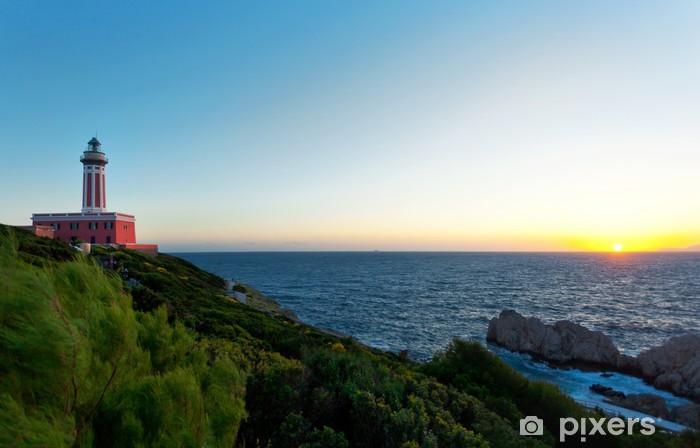 Lighthouse of Capri Island, Italy, Europe Pixerstick Sticker - Holidays
