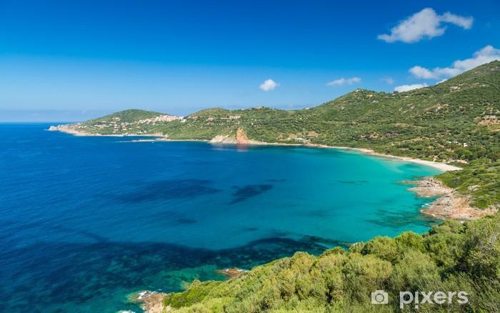 Sticker Pixerstick Plage et le littoral à Cargese en Corse - Europe