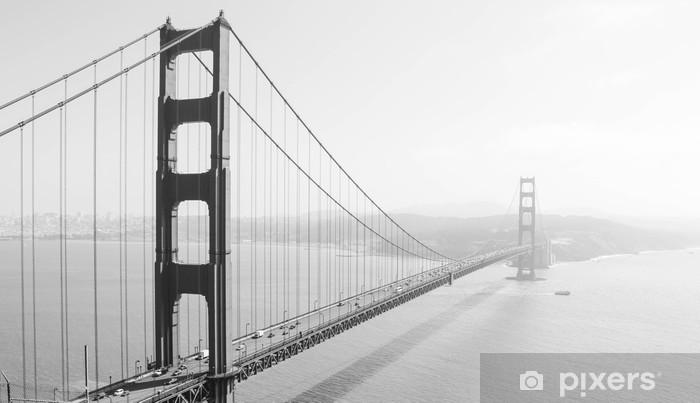 Golden Gate Bridge Pixerstick Sticker - Themes
