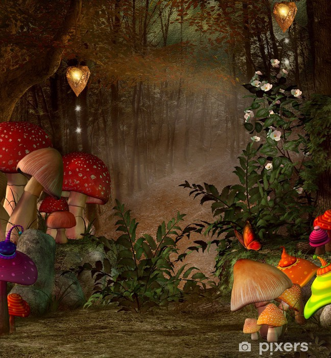 Fototapeta zmywalna Sen nocy letniej serii - magiczne miejsce w lesie -