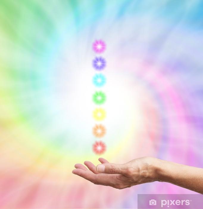 Papier peint vinyle Les sept Chakras - Santé et médecine