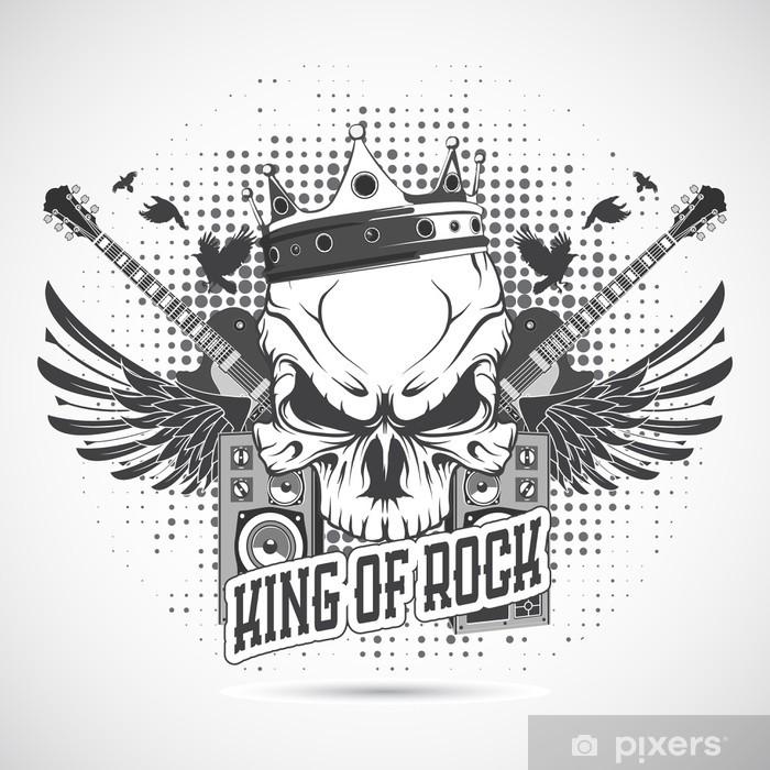 Naklejka Pixerstick Rock n roll symbol - Rock
