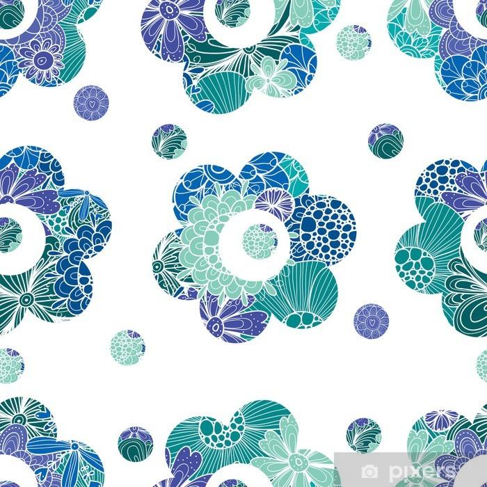 Vinyl-Fototapete Cute nahtlose Muster mit Blumen - Hintergründe