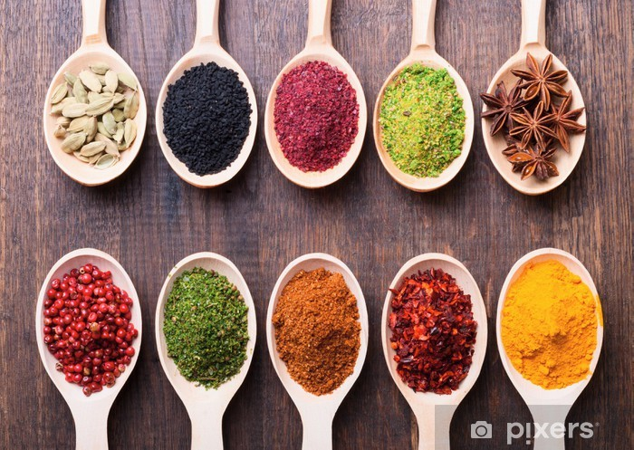 spices Vinyl Wall Mural - Themes
