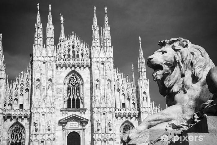 Naklejka Pixerstick Katedra w Mediolanie - Europa