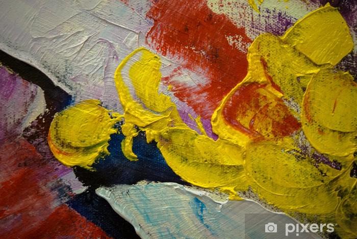 Wonderbaarlijk Fotobehang Abstract Wallpaper van Acryl Schilderen Achtergrond LU-65