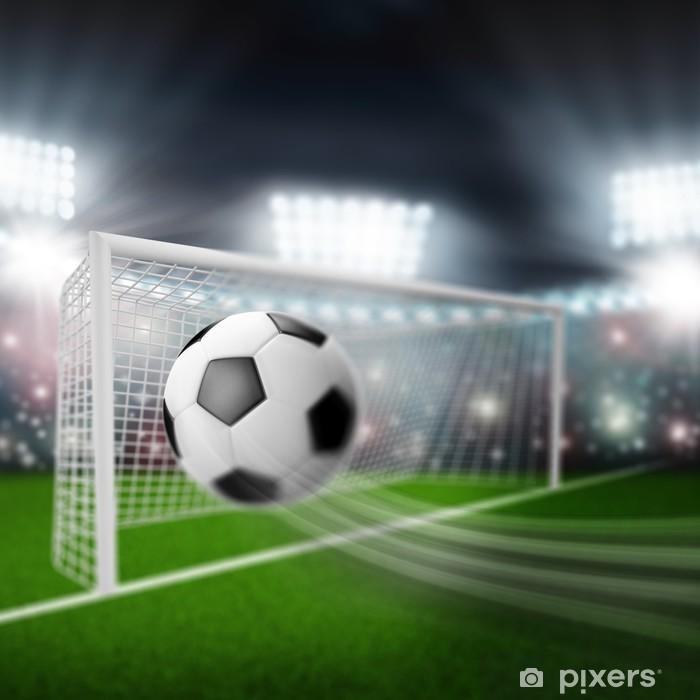 Plakat Piłka leci do bramki - Artykuły sportowe
