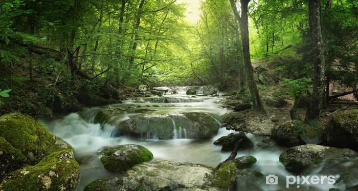 Vinilo Pixerstick Bosque cascada - Temas
