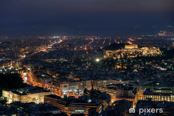 Adesivo Pixerstick Atene di notte - Città europee