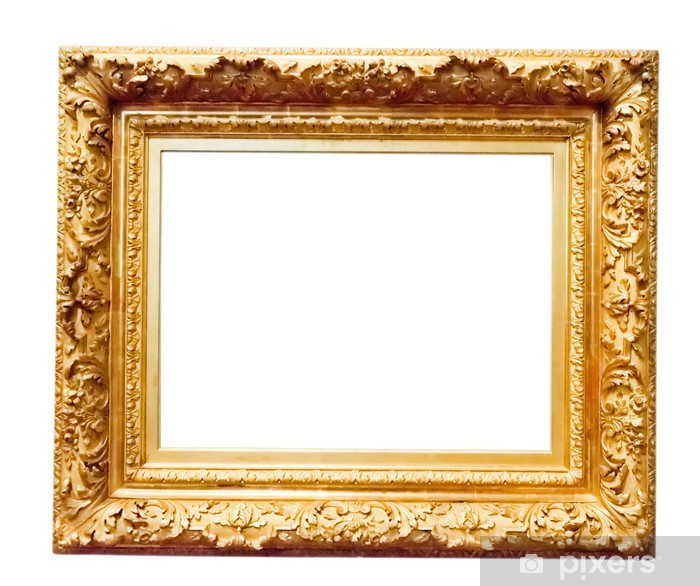 Vintage Gold Frame Isolated On White Wall Mural Pixers