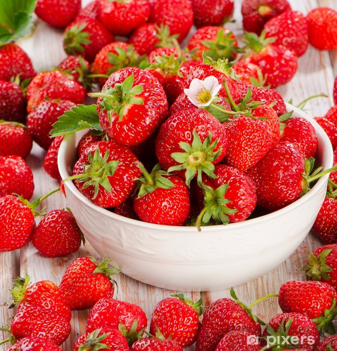 Fresh strawberries Vinyl Wall Mural - Themes