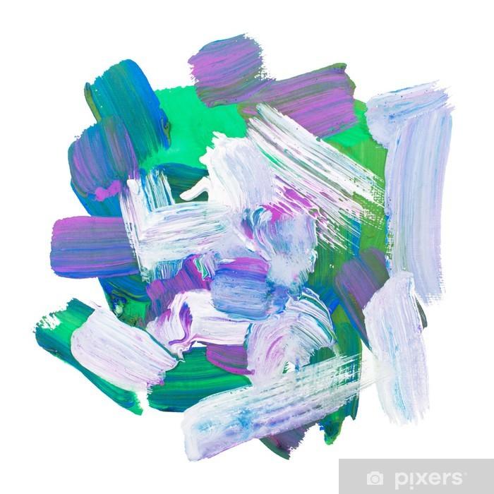 Papier Peint Peinture Acrylique Dart Gouache Brosse Rude Tache De