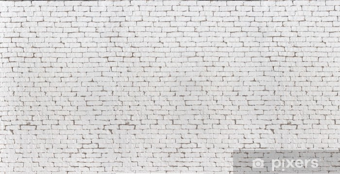 High Resolution White Brick Wall And Floor Textured Background Wall Mural Vinyl