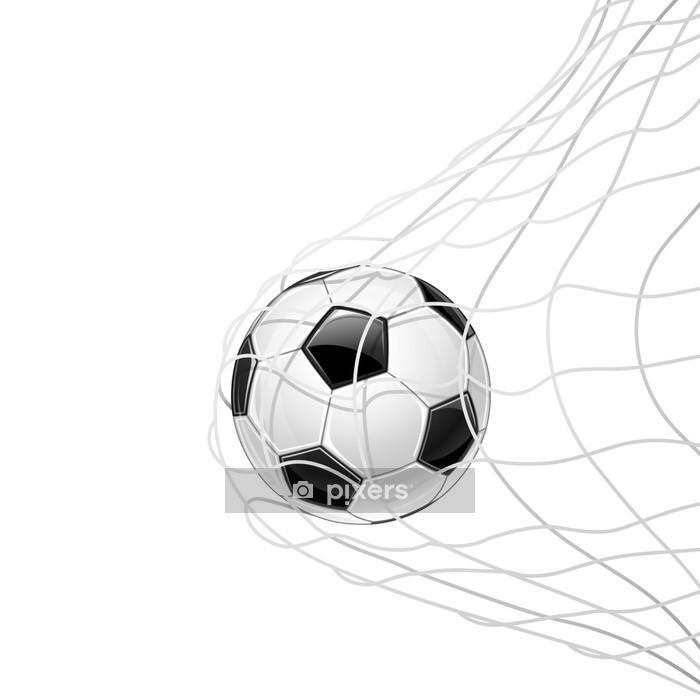 Vinilo para Pared Balón de fútbol en red aislada. Vector - Partidos y competiciones
