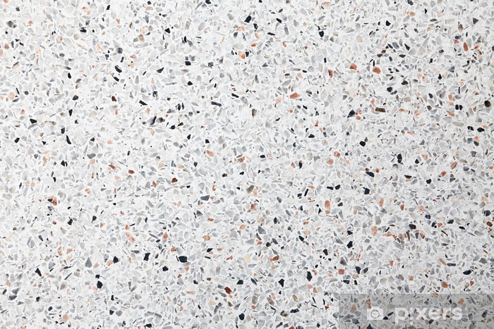 White Terrazzo Floor Background Wall Mural Vinyl