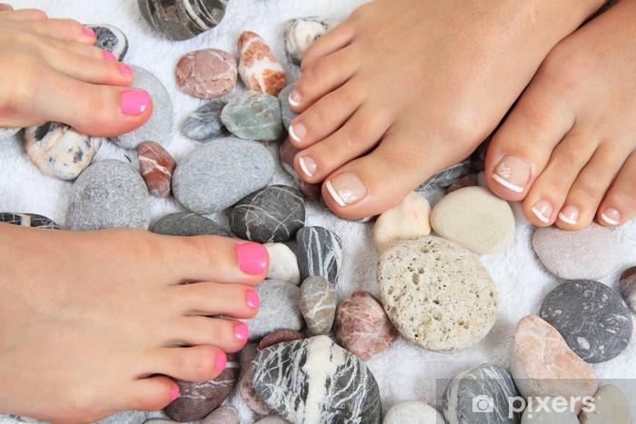 Pixerstick Sticker Vrouwen benen (nagels) en stenen (pedicure) - Lichaamsdelen