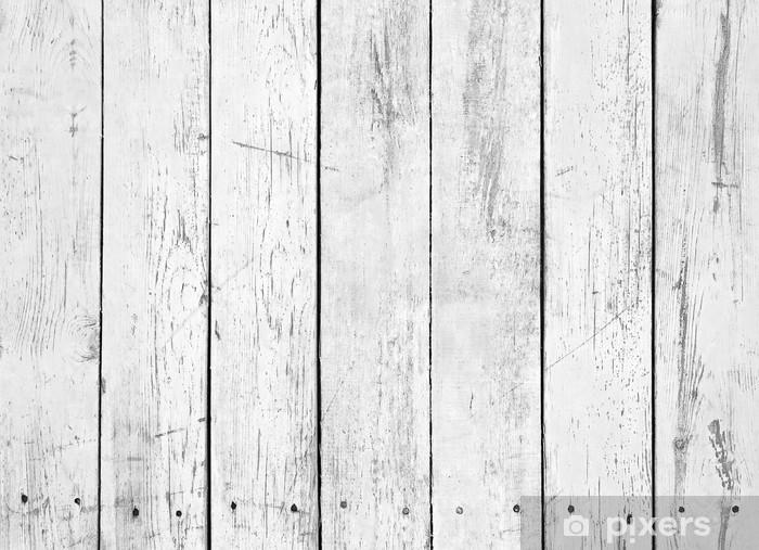 Vinylová fototapeta Černé a bílé pozadí dřevěné prkénko - Vinylová fototapeta