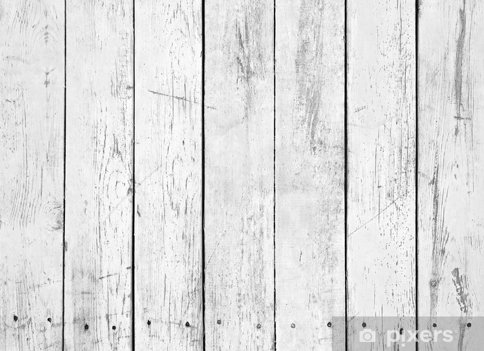 Papier peint vinyle Fond noir et blanc de la planche en bois - Styles