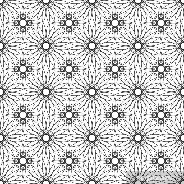 Naklejka Pixerstick Koronkowy kwiatowy tekstury bez szwu. - Tła