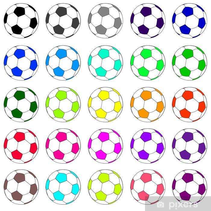 Fototapeta winylowa Zestaw 02 kolorowe piłki nożnej - Sporty drużynowe