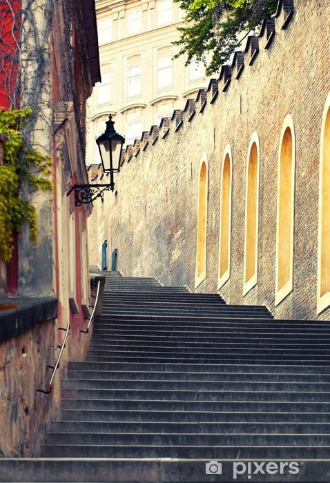 Fototapeta winylowa Średniowieczne schody w Pradze - Praga