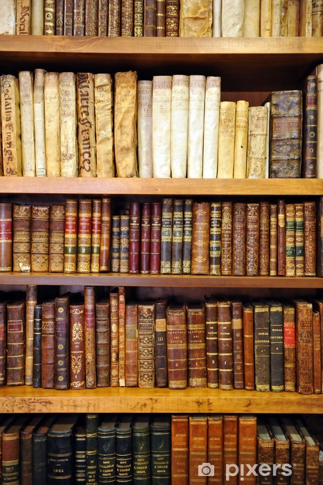 Fototapeta winylowa Biblioteka, księgarnia, stare książki - Biblioteczka