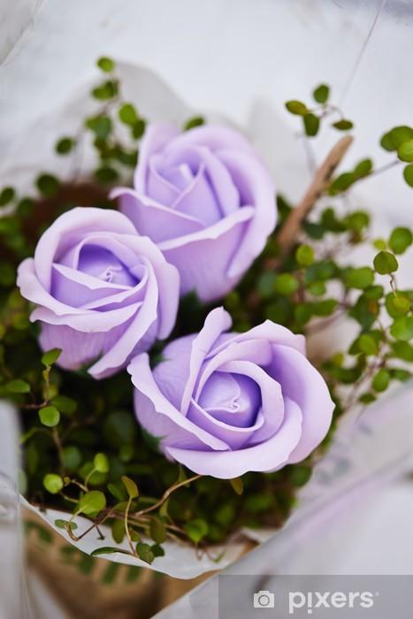 Papier peint vinyle Roses roses - Fêtes internationales