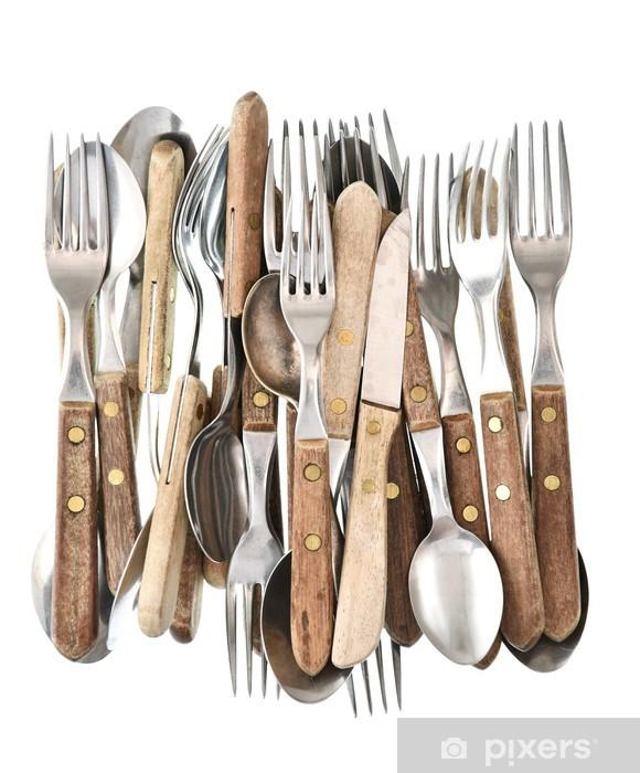 Fototapete Antik Besteck Retro Kuchengerate Messer Gabel Und