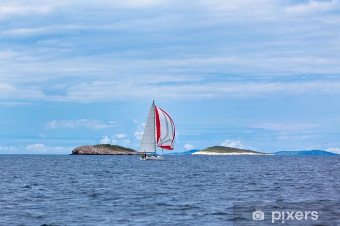 Fototapeta winylowa Jachtów rekreacyjnych w Adriatyku w złej pogody - Transport wodny