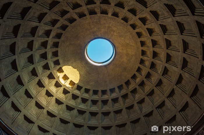 Dome of the Pantheon, Rome, Italy Vinyl Wall Mural - European Cities