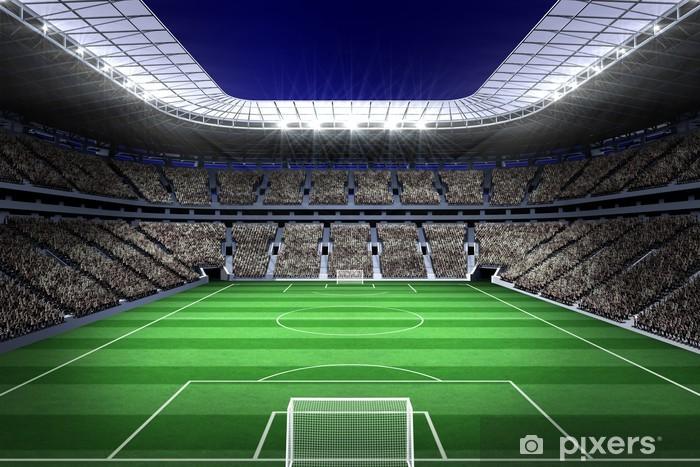 Fototapeta winylowa Duży stadion piłkarski z oświetleniem - iStaging