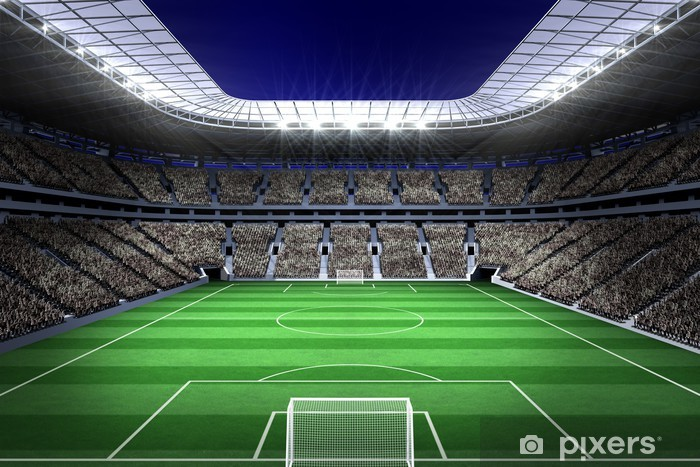Naklejka Pixerstick Duży stadion piłkarski z oświetleniem - iStaging