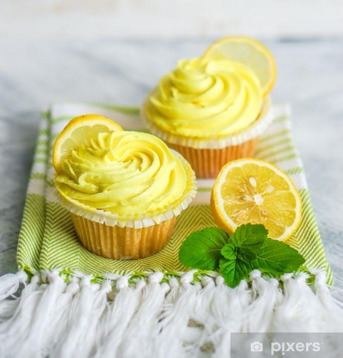 Fototapeta winylowa Lemon z posypką - Słodycze i desery