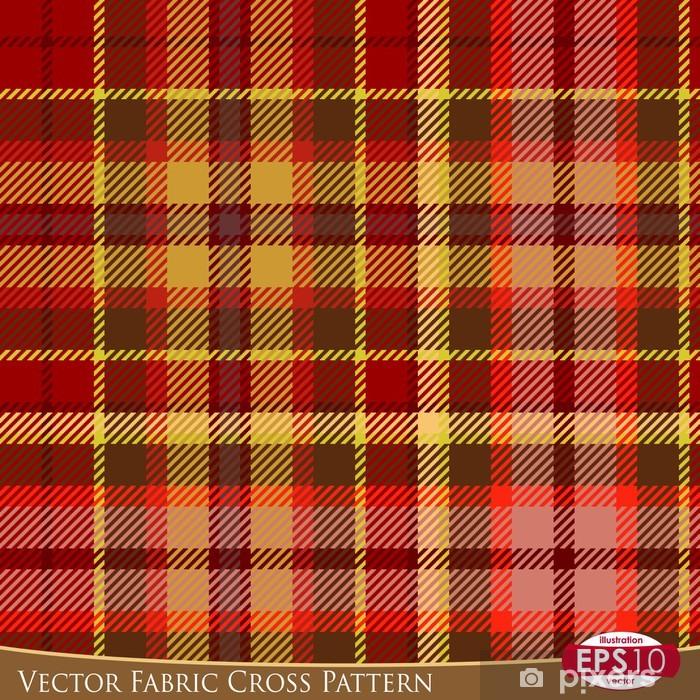 Plakát Vector Fabric Cross Pattern D - Pozadí