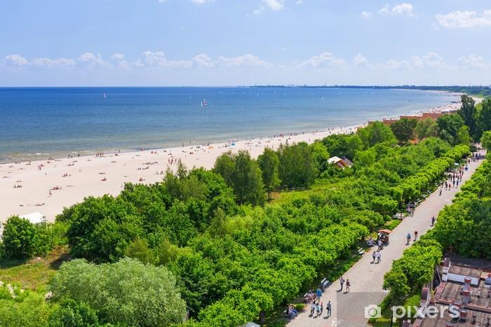 Papier peint vinyle Été à la plage de la mer Baltique à Sopot, en Pologne - Europe