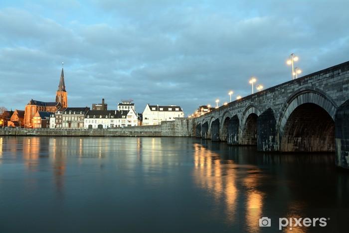 Carta da Parati in Vinile Paesi Bassi Maastricht St. Servatius Ponte - Città europee