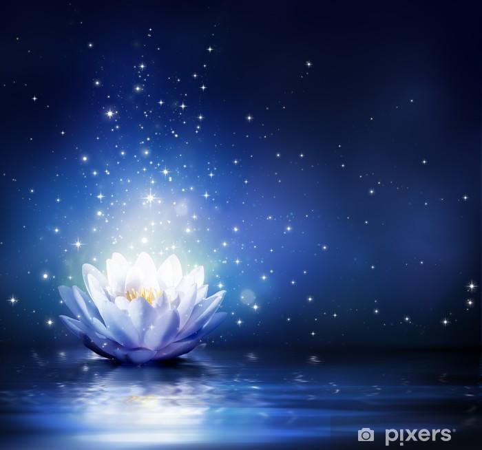 Fotomural Estándar Flor mágica en el agua - azul - Religión