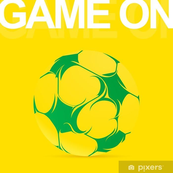 Papier peint vinyle Ballon de football artistique - Sports d'extérieur