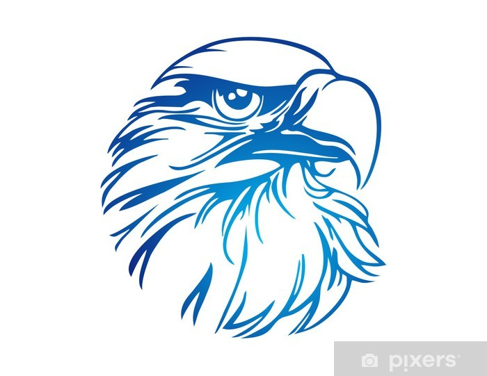 Hawk Logo Eagle Icon Bird Symbol Wall Mural Pixers 174 We