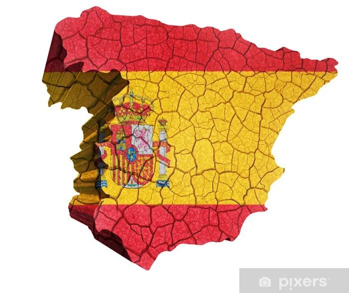 Espanjan Kartta Juliste Pixers Elamme Muutoksille