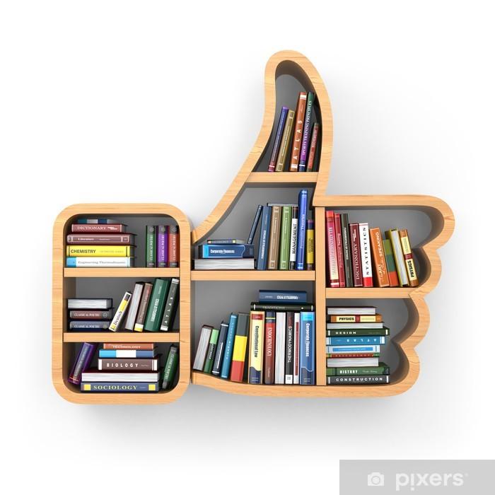 Boekenplank Met Boeken.Fotobehang Onderwijs Concept Boekenplank Met Boeken Als Als Symbool