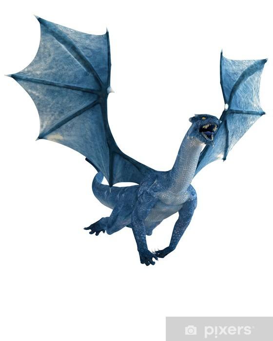 Vinylová fototapeta Blue Dragon létání - Vinylová fototapeta