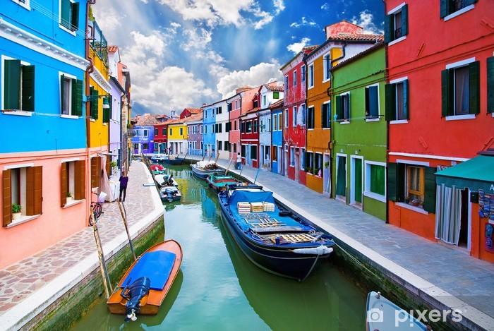 Fototapeta winylowa Wenecja, Burano wyspa canal - Tematy