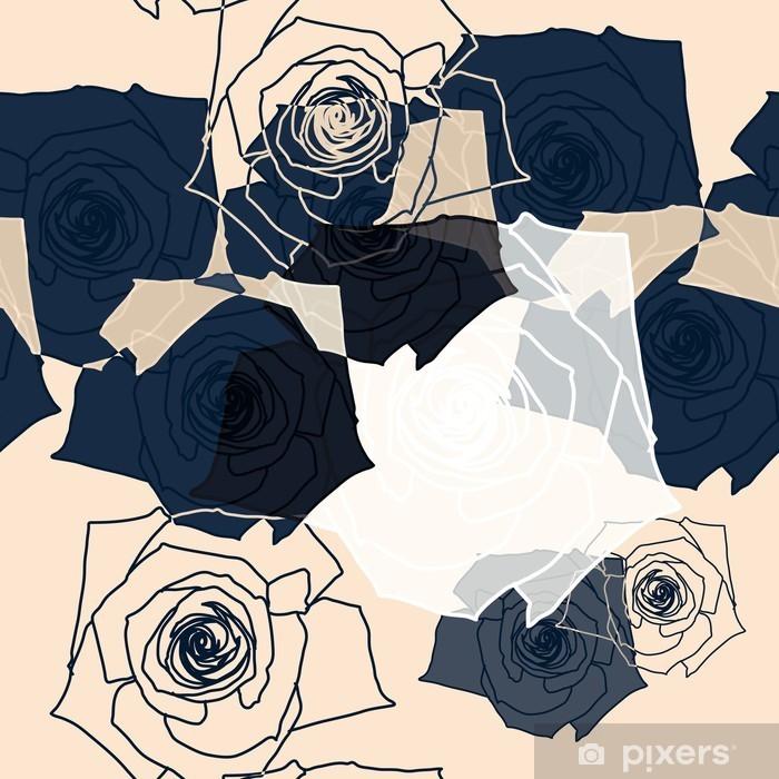 Mural de Parede em Vinil Teste padrão de flor sem emenda, Eps 10 - Ciência e Natureza