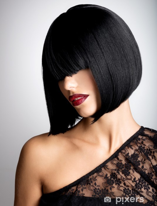 89e8f9955a Vinilo Pixerstick Hermosa mujer morena con el peinado de tiro - Moda