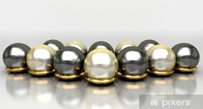Papier peint vinyle Bijoux, métaux précieux, perles, or, bijoux, bague, collier - Destin